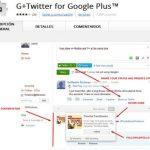 Integrar Twitter con Google plus con G+Twitter for Google Plus