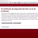 El certificado de seguridad del sitio no es de confianza (solucion)