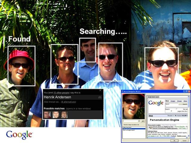 econocimiento facial en Google plus