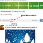 Quitar la ubicación en Facebook