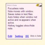 Crear notas y recordatorios con Stick A Note