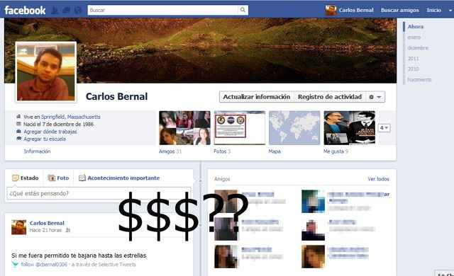 Faceboook va a cobrar?