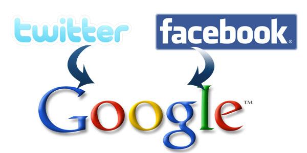 Resultado de imagen de google,facebook twitter