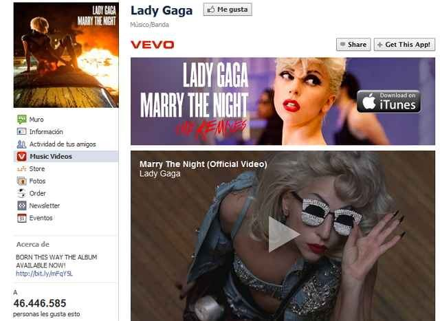 Lady Gaga Facebook