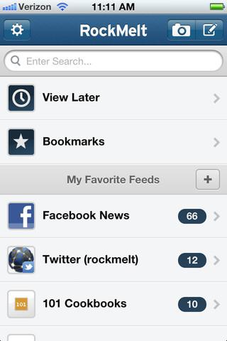 RockMelt para iOS:iPhone