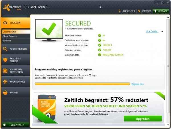 Avast 7 beta