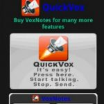 QuickVox, Enviar mensajes de voz en Android