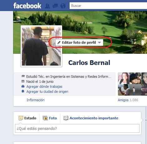 cambiar la foto en Facebook