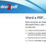 Convertir de Word a PDF online gratis con doc2pdf