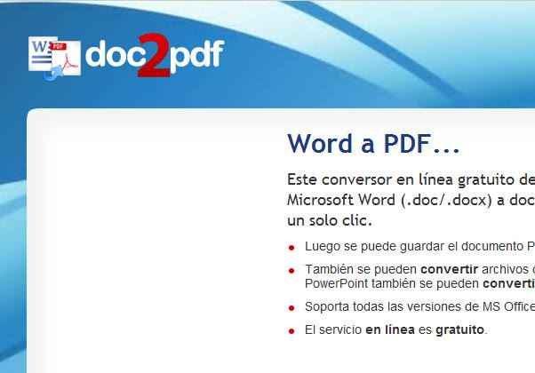 Word a PDF online