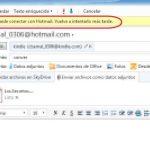Hotmail falla: No se puede conectar