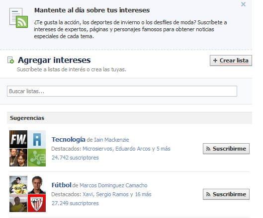 intereses facebook