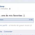 Goear Music: Poner musica en timeline de Facebook