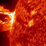 Asombrosa llamarada solar