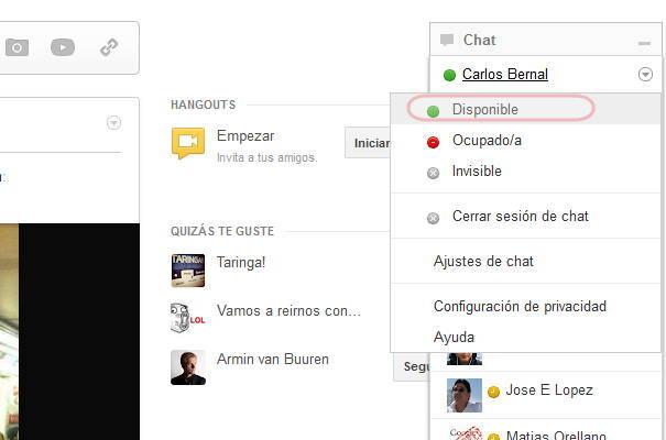 Conectarse al chat de Google plus
