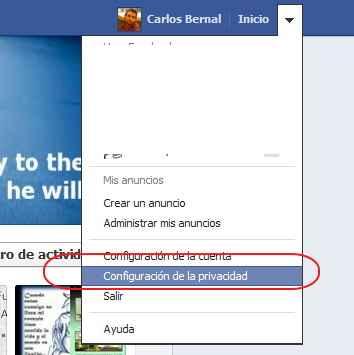 configuracion de la privacidad Facebook