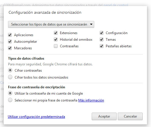 sincronizar  pestañas en Chrome
