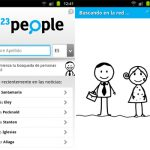 123people, Busca personas en tu android