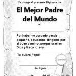 Diploma para el padre