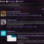 Agregarle transparencia a Facebook con Dark Shiny Purple