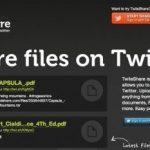 TwileShare, Compartir archivos DOC, PDF en Twitter