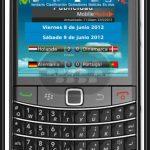 EUFutbol, aplicación de la Eurocopa 2012 para Blackberry