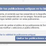 Como ocultar publicaciones antiguas en Facebook