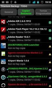Hacer copias de respaldo en Android
