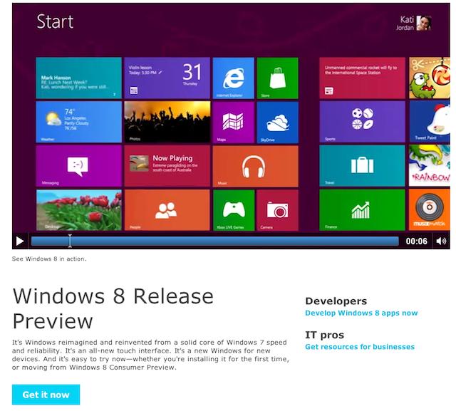 Windows 8 en español