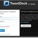Acceder a Tweetdeck desde la web