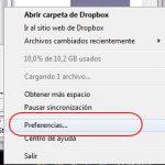 Como sincronizar los archivos mas rapido en Dropbox
