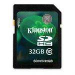 Kingston presenta la versión 32 GB de la tarjeta SDHC Class 10