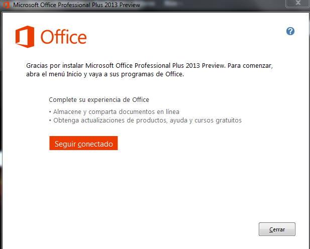 Office 2013 instalado