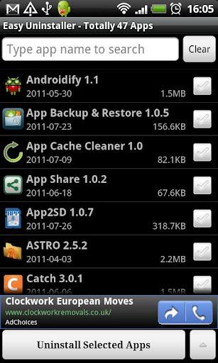 desinstalar aplicaciones en Android