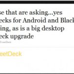 Tweetdeck para Blackberry ¿Existe? Respondiendo