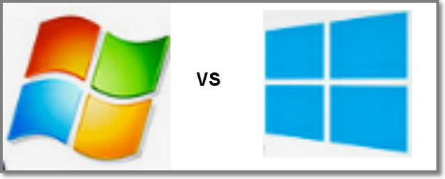 Windows 7 vs Windows 8: logo