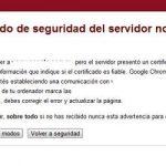 Solución a: El certificado de seguridad del servidor no es válido aún