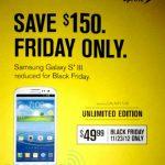 El Galaxy S3 por solo 50 USD este 23 de noviembre con Sprint