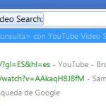 Tip: usar la barra de direcciones de Chrome para buscar en un sitio