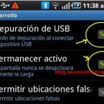 Android: activar la depuración USB