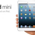 ipad mini en blanco
