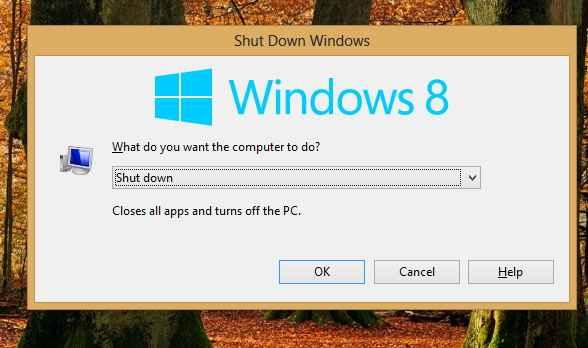apagar windows 8