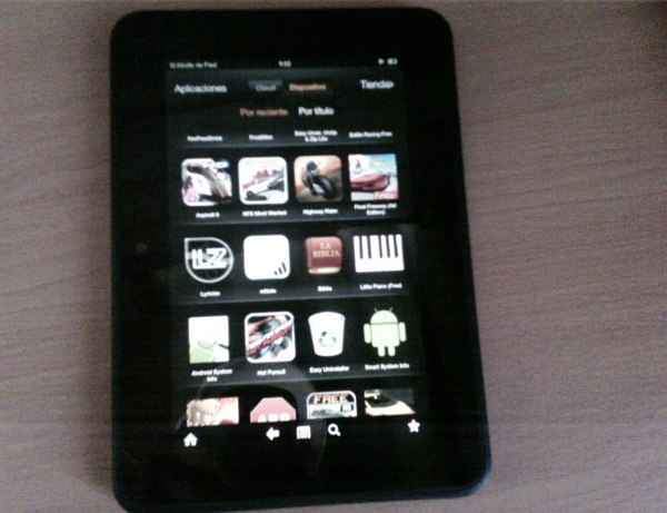 kindle fire hd verticalmente