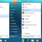 menu de windows 7