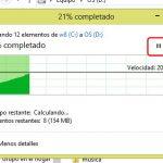 Cómo pausar una transferencia en Windows 8