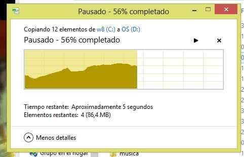 transferencia pausada windows 8