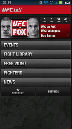 UFC TV Android iOS