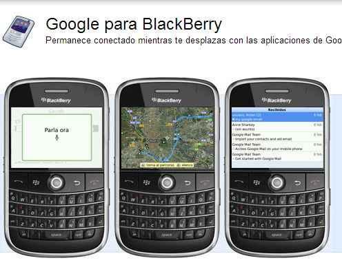 Google para Blackberry