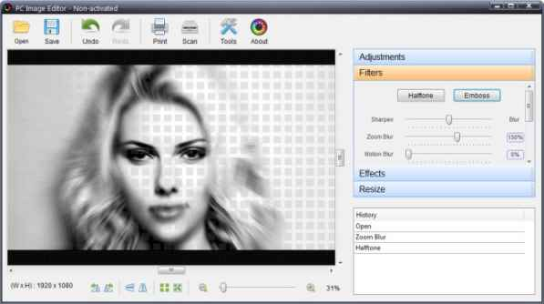 PC Image Editor Filters