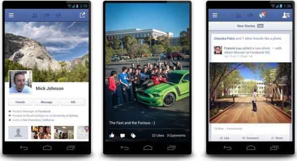 faceboook 2 para Android